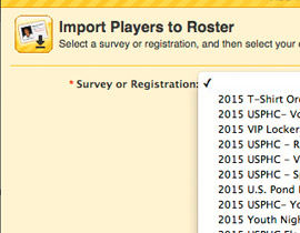 LOADING ROSTERS FROM REGISTRATION IS A BREEZE